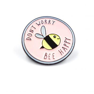 Bee Happy Bees Enamel Pin Gift