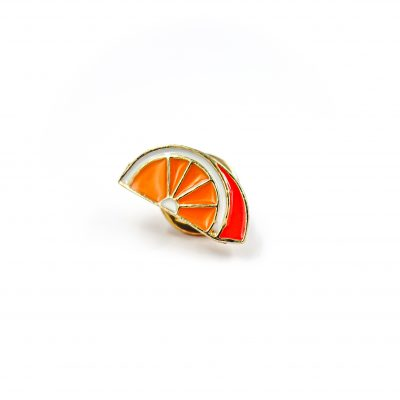 Orange you glad to see me Enamel Pin Gift