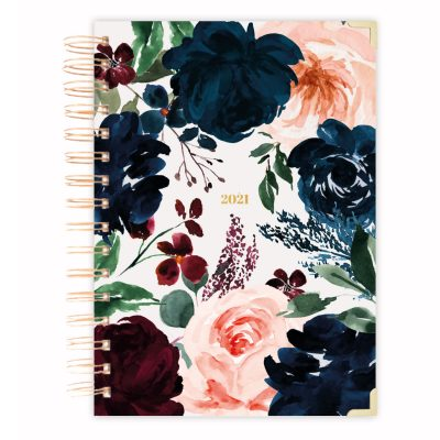 2021 floral daily planner