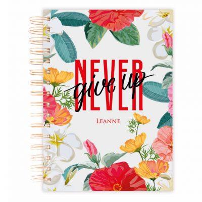 notebook journal floral girft diary