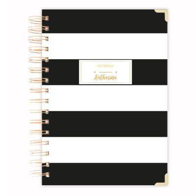 black-striped-A5-notebook