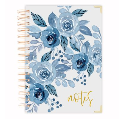 blue floral A5 diary journal A4 size notebook