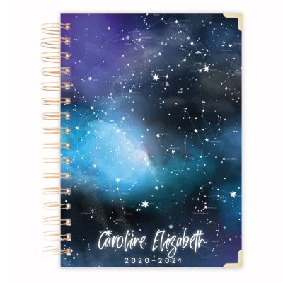 galaxy daily planner blue astronomy