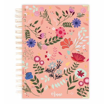 hardcover-floral- A5 notebook