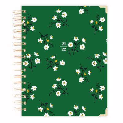 green-hard-cover-diary 2021-2022