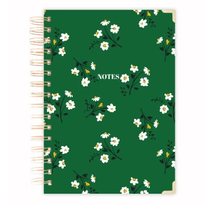 green-hard-cover-notebook-retro