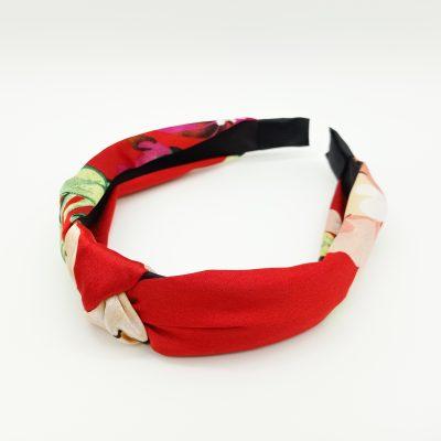 Headband Red Headband Floral Hair Accessories
