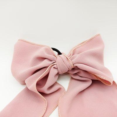 Pink Bow Hairband Satin Blush Scrunchie Hair Accessories Women Accessories Silky Scrunchie