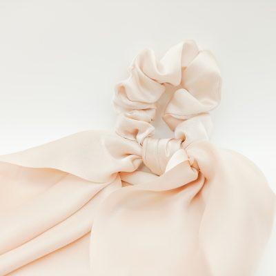 Silk Pink Scrunchie Satin Blush Scrunchie Hair Accessories Women Accessories Silky Scrunchie