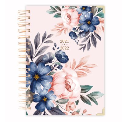 pink floral mid year-planner-diary-2021-2022